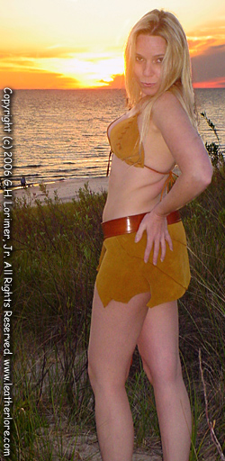 Amazon Leather bikini Beach Wear!