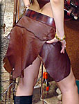 Amazon Leather Skirt