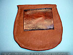 Leather hand made stitched medieval renaissance belt pouch bag